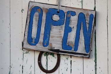 panneau open